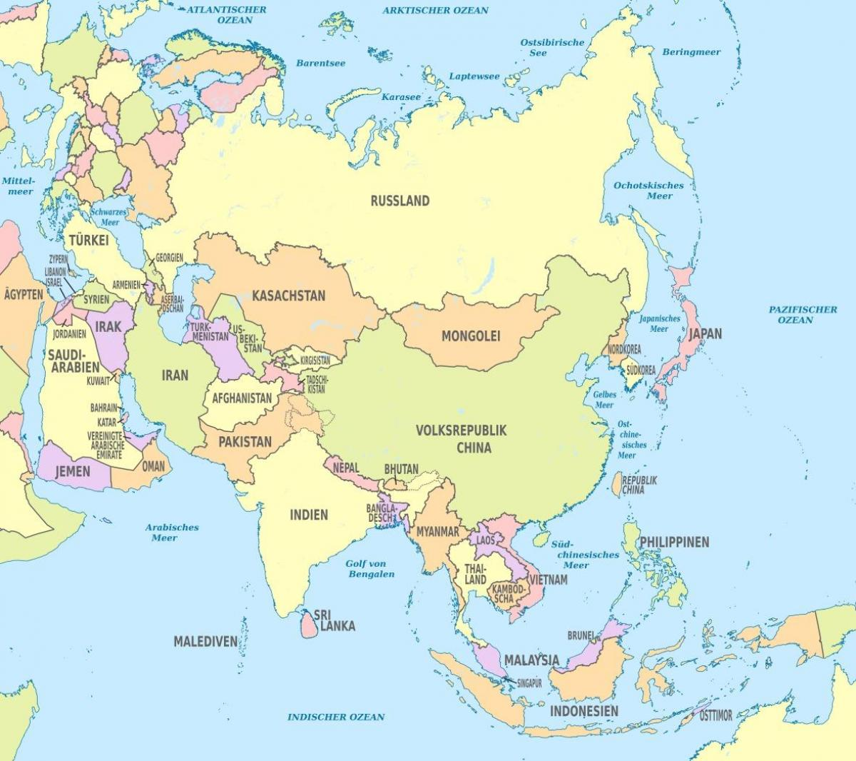 Bahrain Asien Map Karte Von Bahrain Asien West Asien Asia