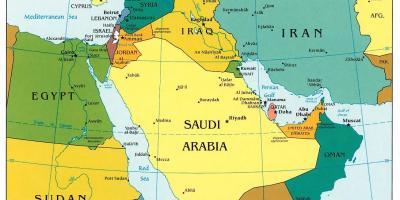 Nahost Karte.Karte Von Bahrain Naher Osten Bahrain Auf Nahost Karte West Asien